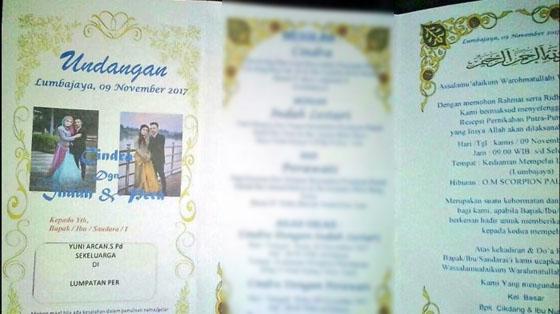 Undangan Pernikahan Ini Jadi Viral, Karena Mempelai Pria Menikahi Dua Wanita Sekaligus