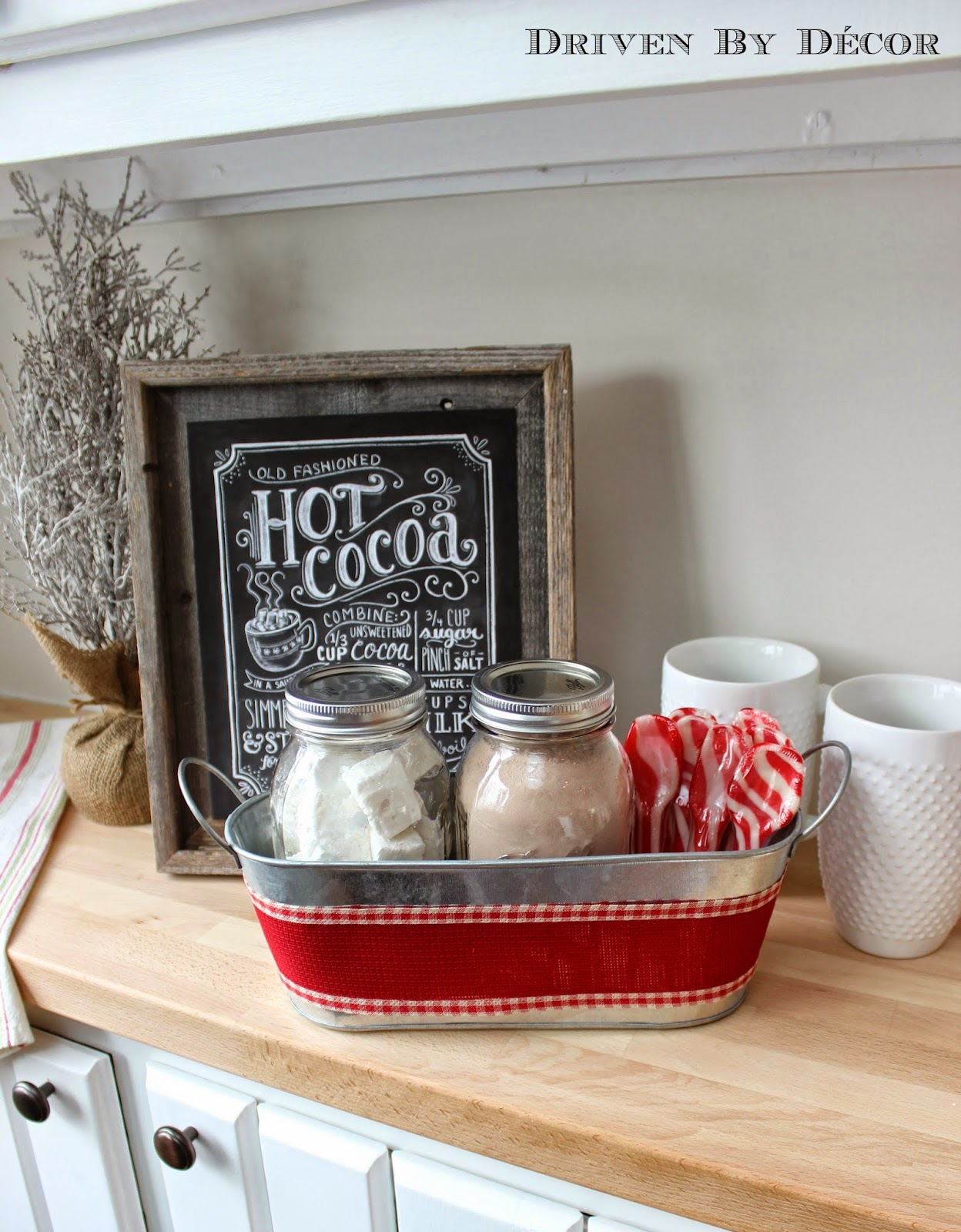 Chalkboard Christmas Hot Chocolate Bar