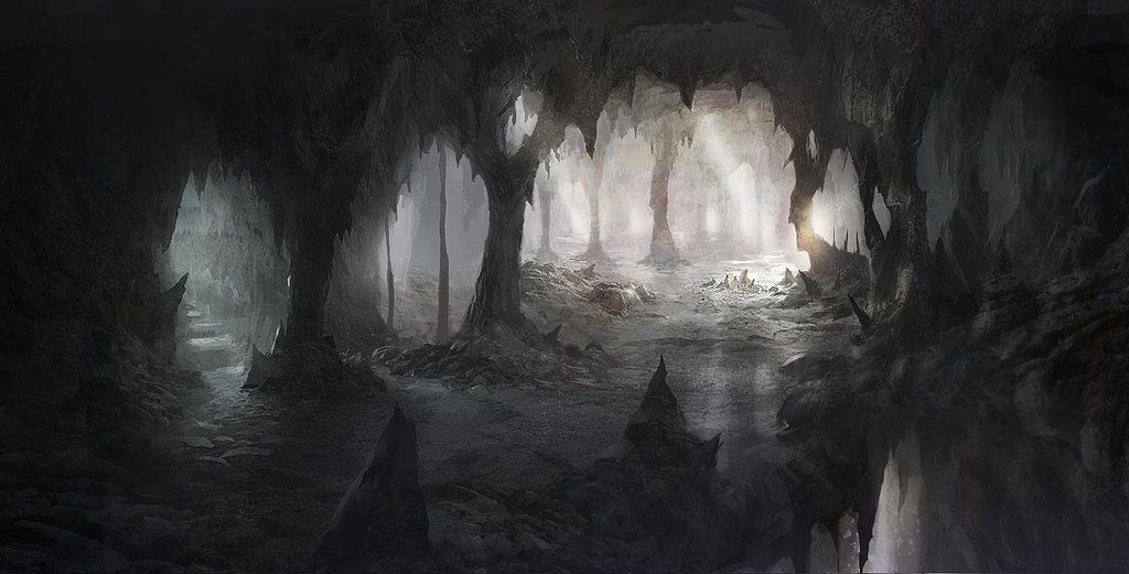 Mroczna jaskinia Cienia Cave_by_ewkn