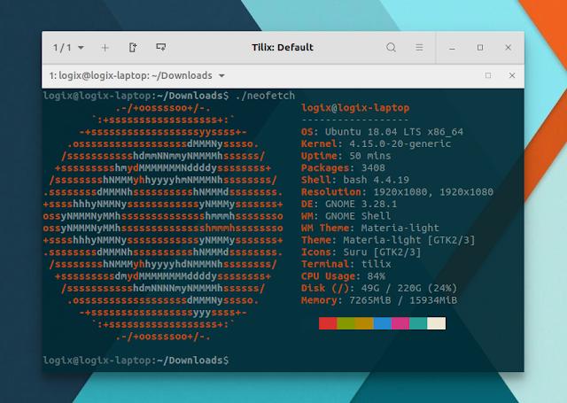 Neofetch system information Ubuntu