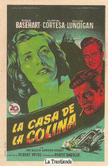 Programa de Cine - La Casa de la Colina - Richard Basehart - Valentina Cortesa