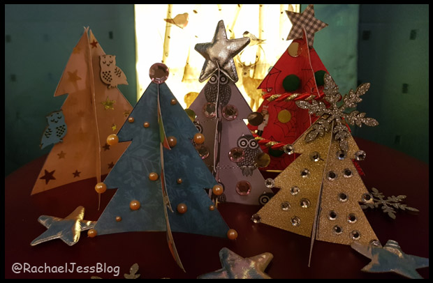 Create cardboard trees for kids to decorate