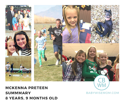 McKenna Preteen Summary: 8.75 Years Old