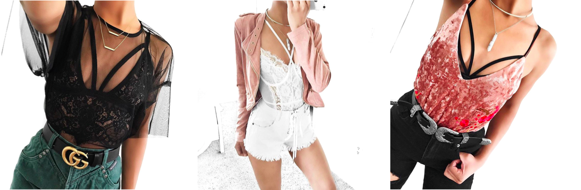 lingerie influences seen on instagram, underwear as outerwear trend fashion blogger
