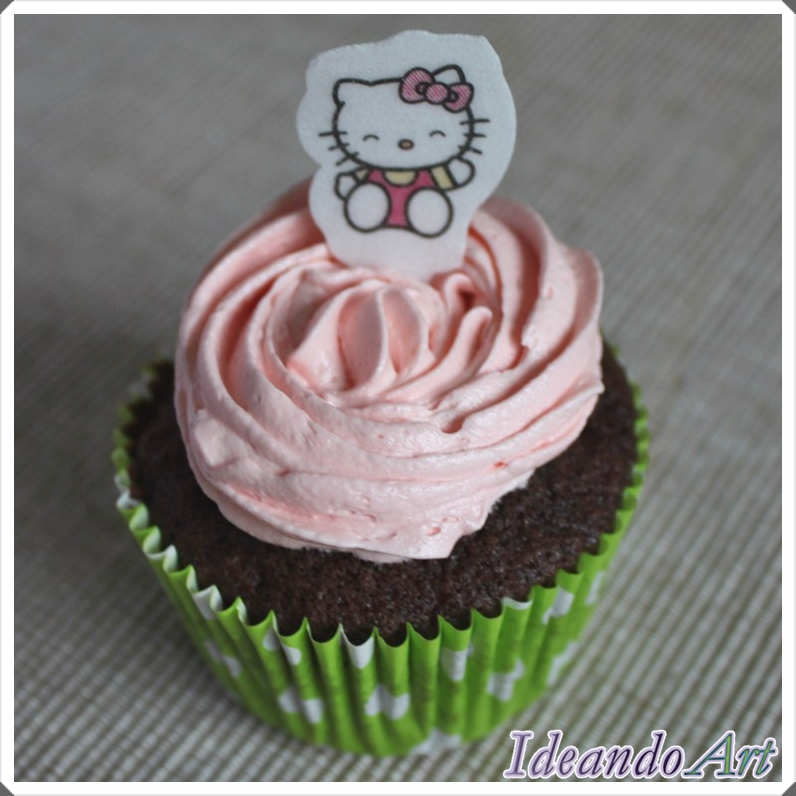 Cupcake chocolate y buttercream