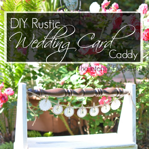 DIY Rustic Wedding Card Caddy
