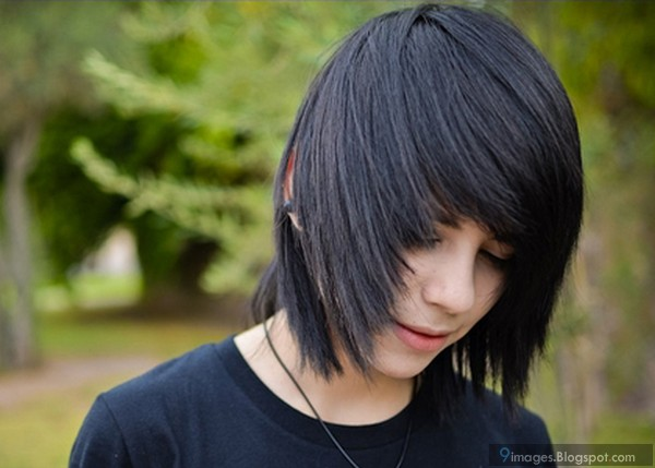Emo Adorable Guy Hairstyle Looks Beautiful