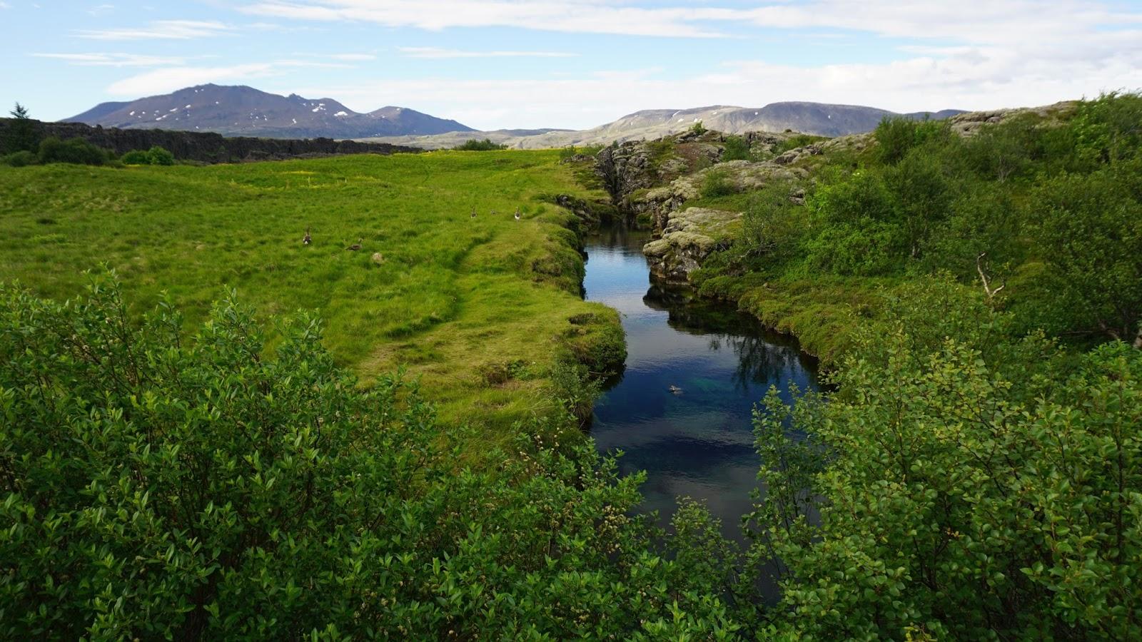 szczelina Silfra, islandzkie atrakcje, Islandia, Park Thingvellir