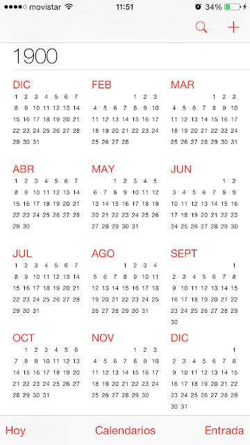 Calendario 1900.Noticia Un Fallo En El Calendario De Ios Antes De 1900