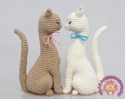 Вязаные кошки крючком