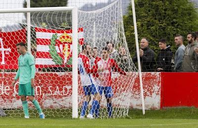 Dolorosa derrota lejos de casa. Sporting de Gijón B 4-2 Real Madrid Castilla.