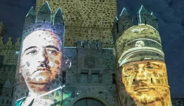 Proyectan la imagen de Franco e Himmler las fiestas de un pueblo de Toledo