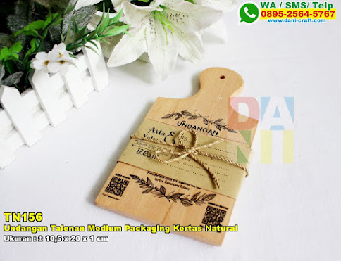 Undangan Talenan Medium Packaging Kertas Natural
