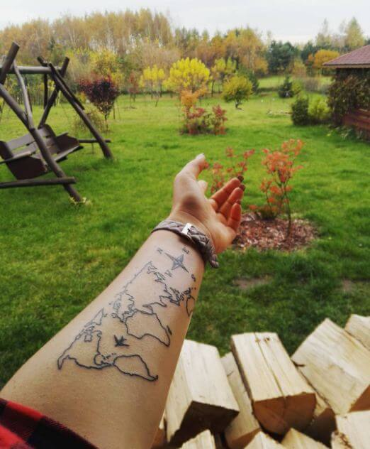 World Map Tattoos