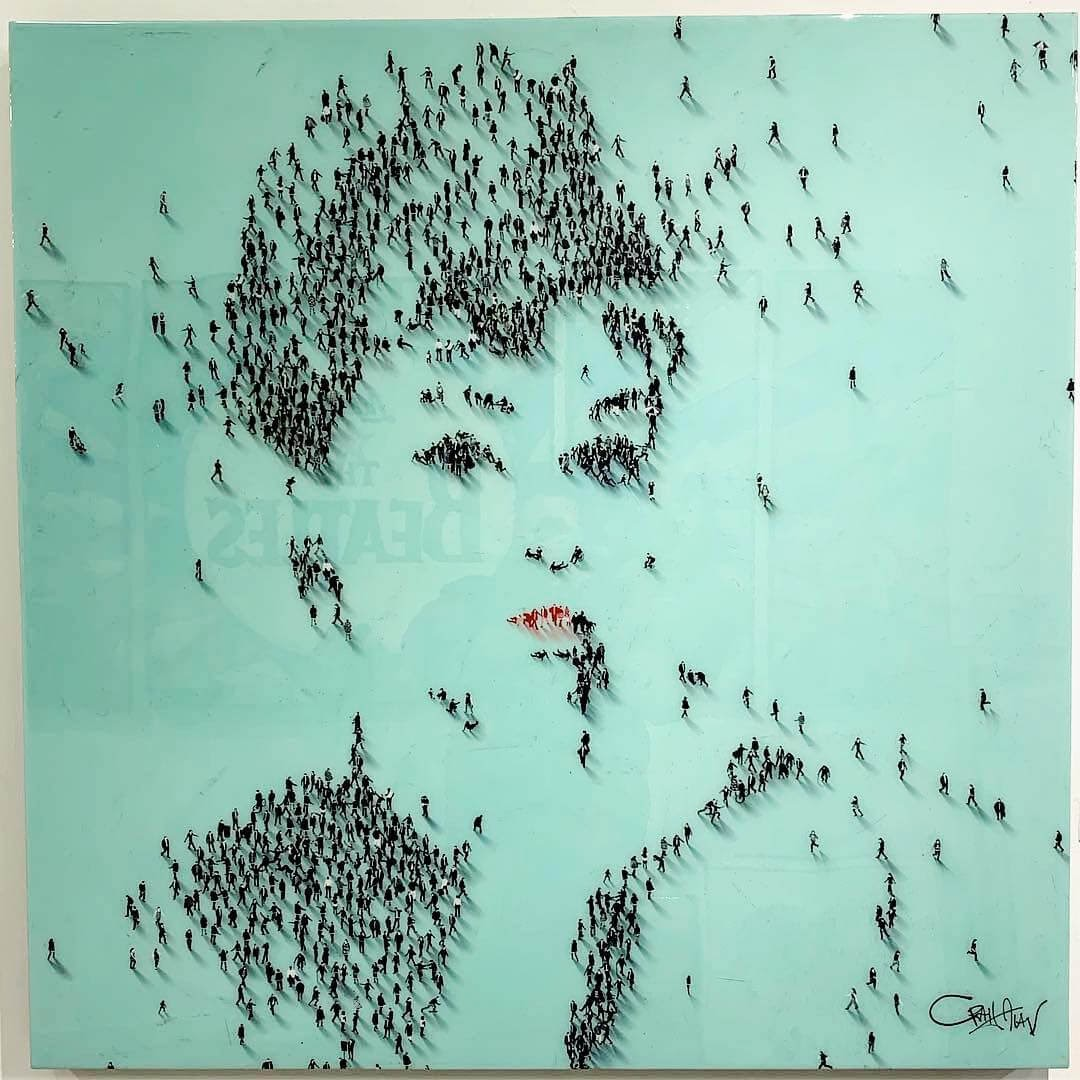01-Audrey-Hepburn-Craig-Alan-Portraits-Created-with-Paintings-of-People-www-designstack-co