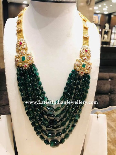 50gms Emerald Beads Necklace