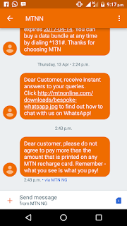 Screenshot_20170420-211707 Who Else Received The MTN Mesage For Payment Of Recharge Card? Root