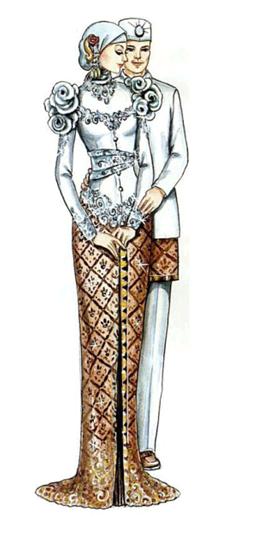 Contoh Baju Muslim Kebaya Pengantin Modern
