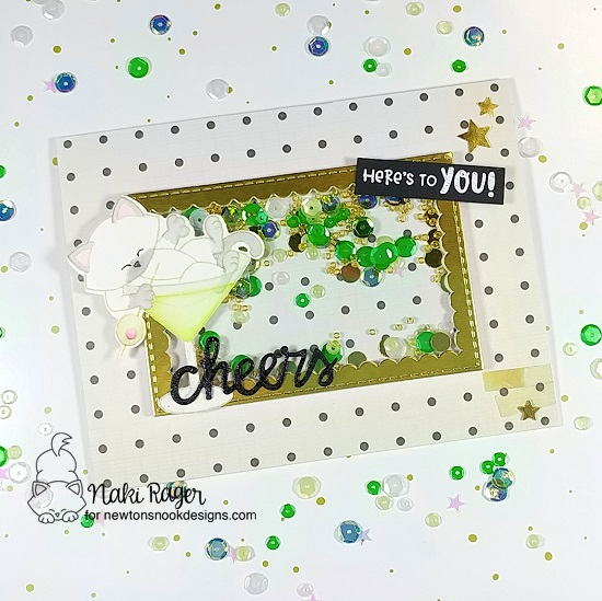 Cheers to You Card by Naki Rager | Newton Celebrates and Cocktail Mixer Stamp Sets by Newton's Nook Designs #newtonsnook #handmade