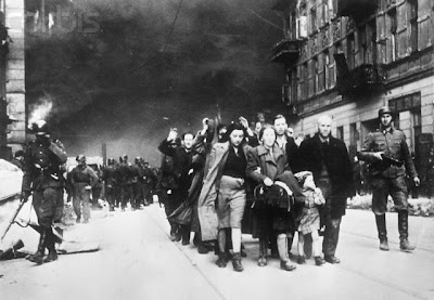 JEWISH FIGHTERS CAPTURED BY NAZIS - WARSAW GHETTO UPRISING