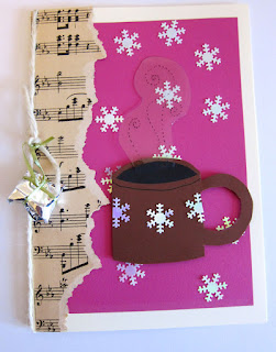 Christmas card with cup DIY