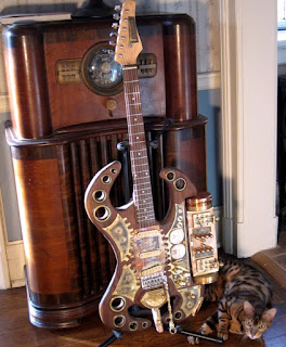 Steampunk Electric Guitar by Will Rockwell