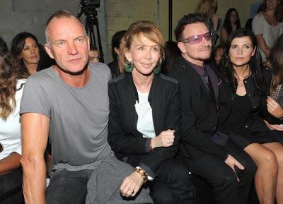 Bono y Sting en Nueva York 2011