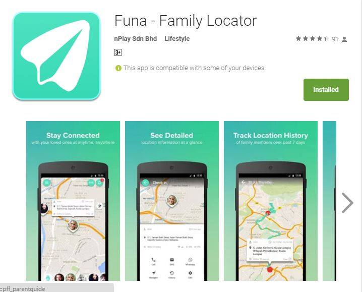 5 Little Angels: FUNA - Family Locator App to Ensure Your