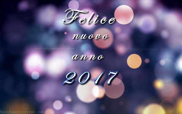 Felice nuovo anno 2017 auguri