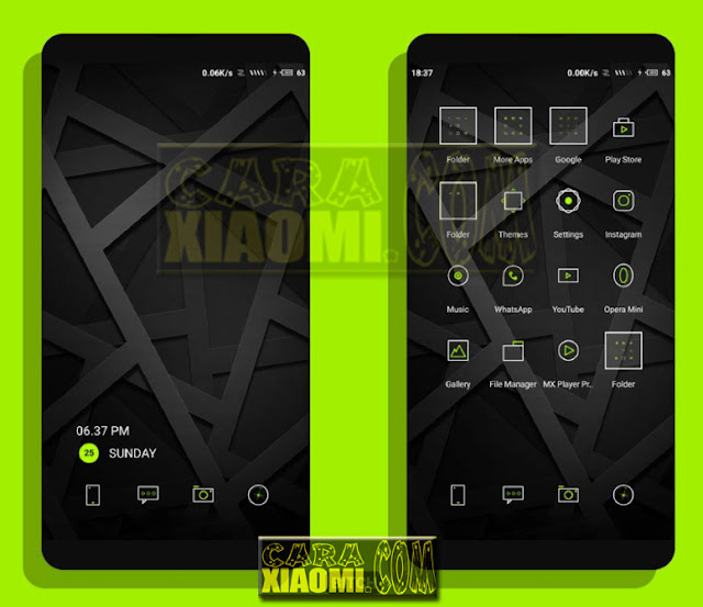 MIUI Theme Hideung Black Edition Mtz For MIUI Redmi