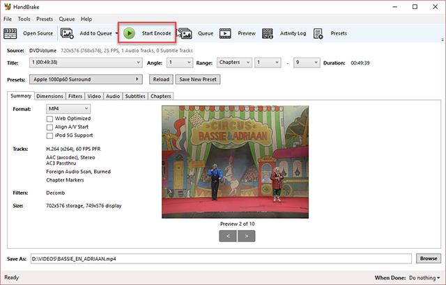 dvd converteren naar ipad