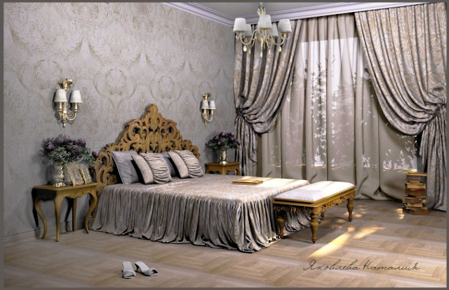 modern bedroom decor with stylish bedroom window curtain ideas