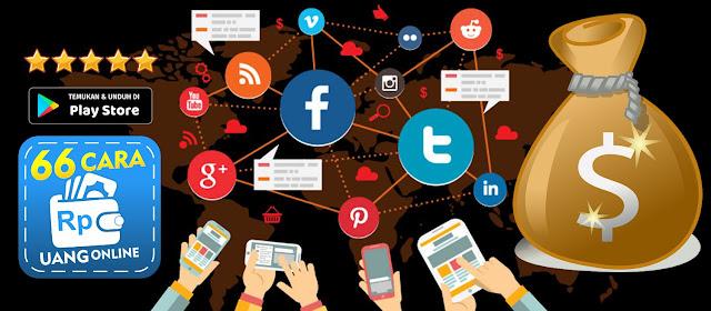 Cari Uang dengan Sosial Media Sosmed Facebook Instagram Twitter