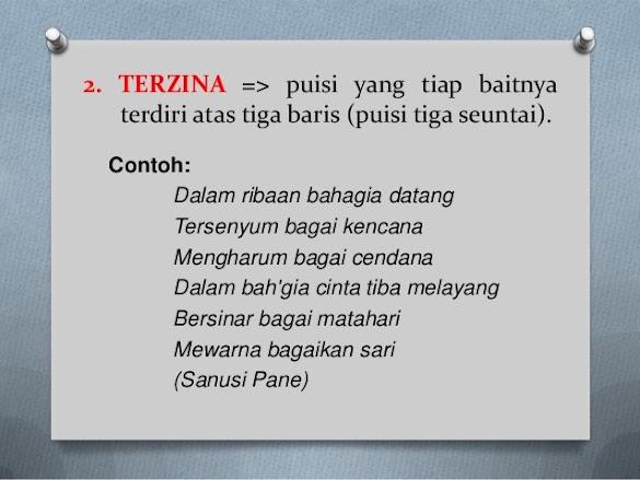 Pengertian Dan 5 Contoh Puisi Terzina dalam Bahasa Indonesia