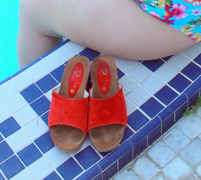 scarpe patrizia sughero rosse