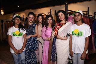Smile Foundation kicks start #Indulge4Smile with Jhelum Multi Designer store and Aurelle by Leshna Shah to support #SheCanFly Divya Khosla Kumar joins in as a guest of honor along with other celebrities and fashion lovers
