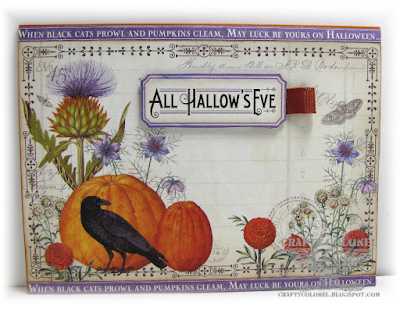 CraftyColonel Donna Nuce for Cards in Envy Halloween Challenge, Graphic 45 Place in Time