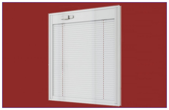 Double Hung WINDOWS With Blind Between GLASS