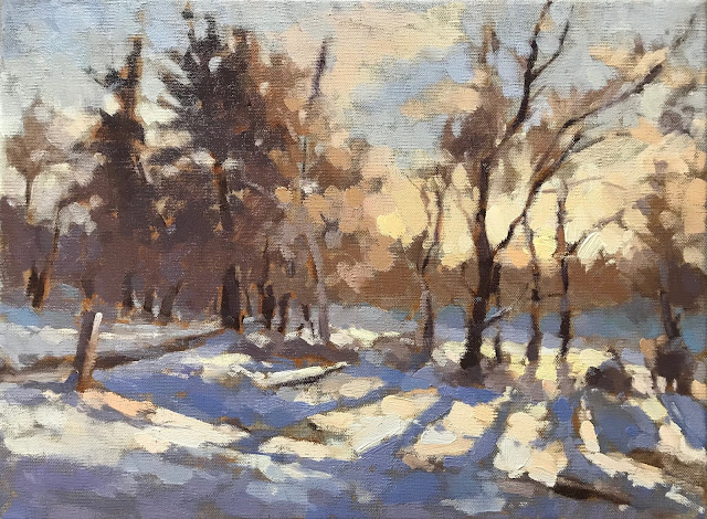 #427 'First Snow' 30x40cm Happy Christmas!