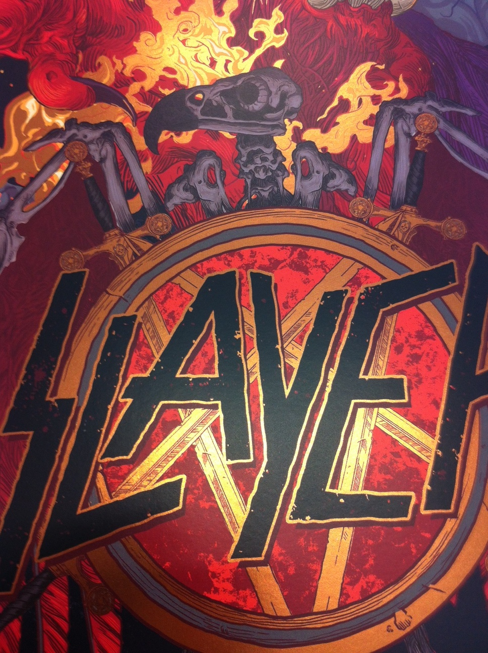 Inside The Rock Poster Frame Blog Slayer Sydney Australia