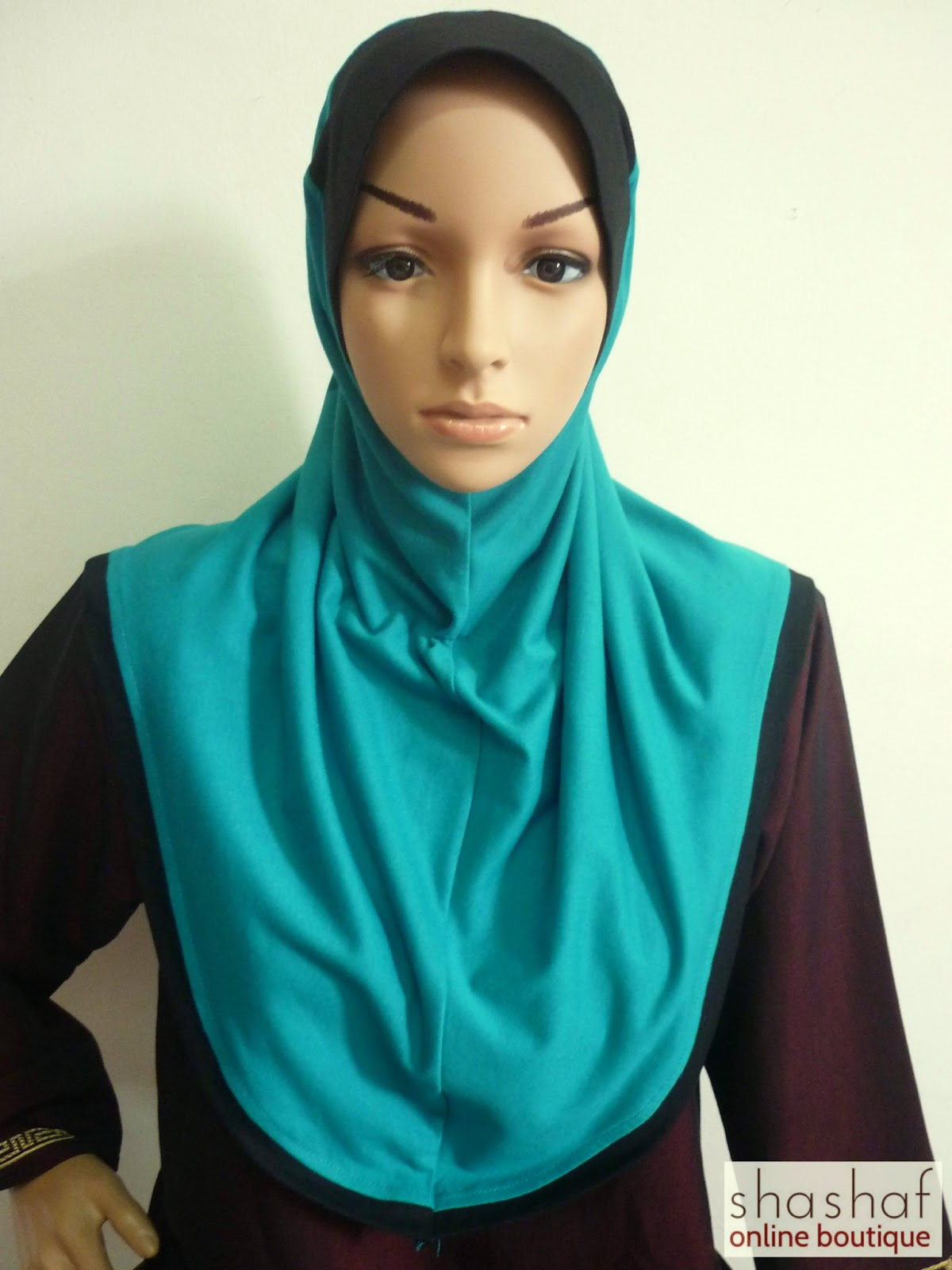 Tudung Cotton Plain 2 Colour CKR ~ Size M ( Labuh ...