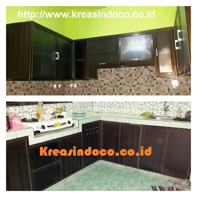 Kitchen Set Warna Coklat: Model Dan Warna Kitchen Set Aluminium ACP