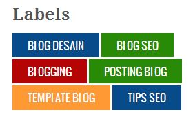 Labels Cloud  Widget Warna-Warni di Sidebar