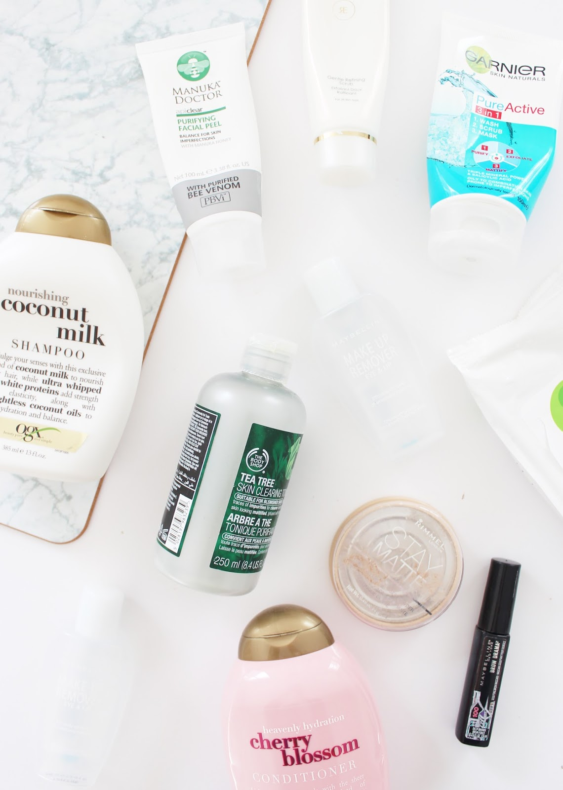EMPTIES | May '16 - OGX, The Body Shop, Rimmel, Maybelline, Garnier + More