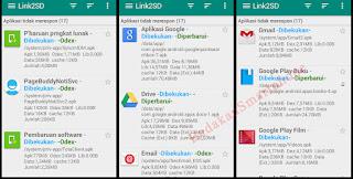 Daftar aplikasi pabrikan dibekukan di Link2SD 2