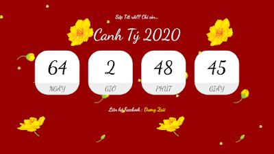 Template Đếm Ngược Thời gian đến Tết Canh Tý 2020 VESION 2