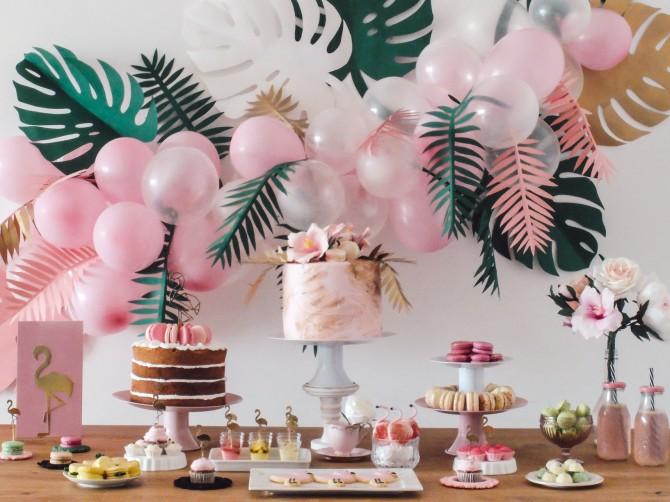 Festa tropical, dicas de decoração festa tropical, festa de flamigos