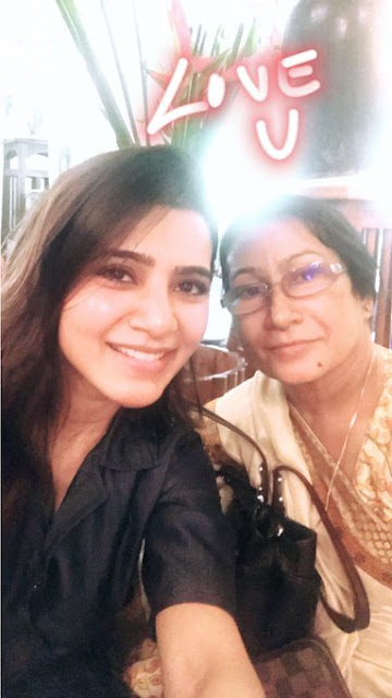 Samantha Ruth Prabhu With Her Mother