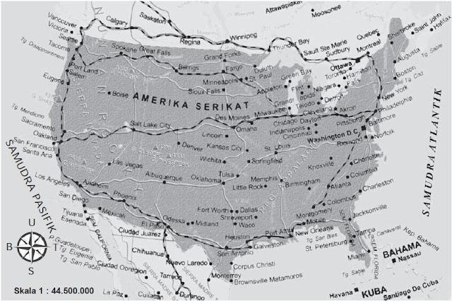 Peta Amerika Serikat