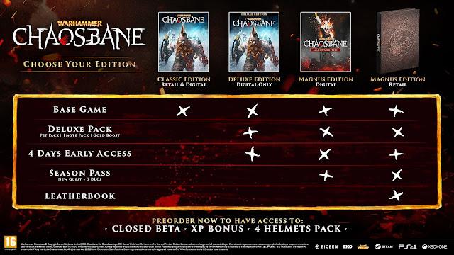 Warhammer: Chaosbane | confronto edizioni